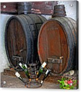 Old French Wine Casks Acrylic Print