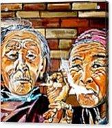 Old Friends Fun Time Acrylic Print