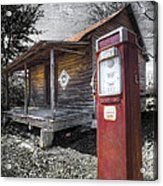 Old Gas Pump Acrylic Print by Debra and Dave Vanderlaan