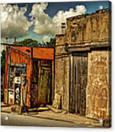 Old Gas Station Acrylic Print