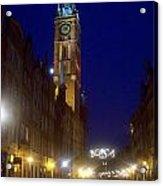 Old Gdansk November Nights Acrylic Print