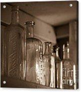 Old Glass Bottles Acrylic Print