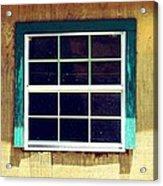 Old Glass Window Acrylic Print
