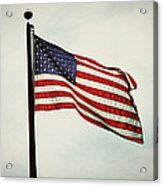Old Glory In The Wind Acrylic Print