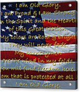 Old Glory Acrylic Print by Robyn Stacey