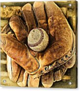 Old Gloves Acrylic Print
