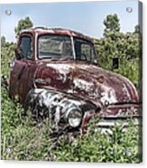 Old Gmc Truck Acrylic Print by Olivier Le Queinec