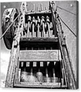 Old Gold Mine Technology In Black And White Acrylic Print