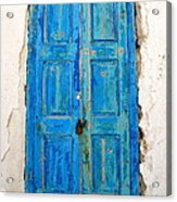 Old Greek Shutter Acrylic Print