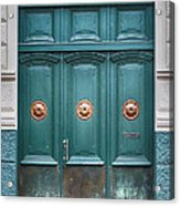 Old Green Door Acrylic Print