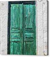 Old Green Door Acrylic Print