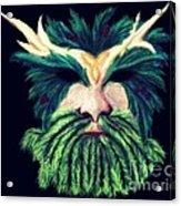Old Green Man Winter Acrylic Print