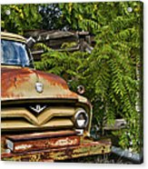 Old Green Truck Acrylic Print