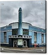 Old Greyhound Bus Terminal  Acrylic Print by Julie Dant