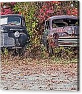 Old Guys Rule Panoramic Acrylic Print