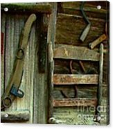 Old Hanging Ladderback Acrylic Print