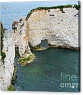 Old Harry Rocks On The Jurassic Coast In Dorset Acrylic Print