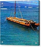 Old Hawaiian Sailboat Acrylic Print