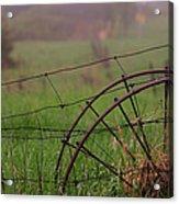 Old Hay Rake Wheels Acrylic Print