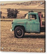 Old Hay Truck In The Field Acrylic Print