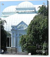 Old Historical Building At Botanical Gardens Of New York Acrylic Print