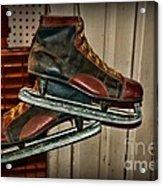 Old Hockey Skates Acrylic Print