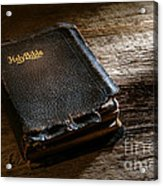 Old Holy Bible Acrylic Print
