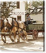 Old Horse Drawn Wagon At Fort Edmonton Park Acrylic Print