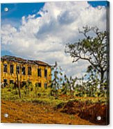 Old House And Cows Acrylic Print by Fabio Giannini