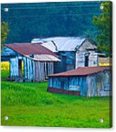 Old House And Harvest Time 2 Acrylic Print