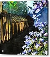 Old House And New Flowers Acrylic Print