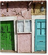 Old House Doors In Lisbon Acrylic Print