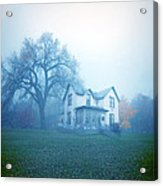 Old House In Fog Acrylic Print