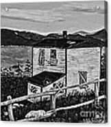 Old House - Memories - Shutters And Boards Acrylic Print
