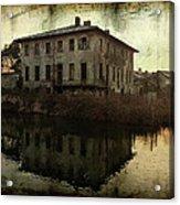 Old House On Canal Acrylic Print