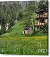 Old House On The Green Field Acrylic Print
