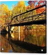 Historic Harvey Bridge Over Manistee River In Wexford County Michigan Acrylic Print