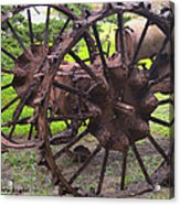 Old Iron Detail 2 Acrylic Print by Barbara Snyder