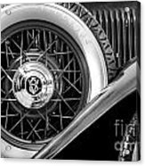 Old Jag In Black And White Acrylic Print