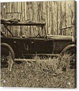 Old Jalopy Behind The Barn Acrylic Print