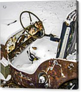 Old Jeep - New Snow Acrylic Print