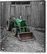 Old Tractor By The Barn Etna New Hampshire Acrylic Print