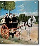 Old Junier's Cart Acrylic Print by Henri Rousseau