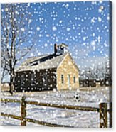 Old Kansas Schoolhouse Acrylic Print
