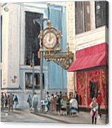 Old Kaufmann's Clock Acrylic Print