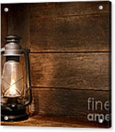 Old Kerosene Light Acrylic Print