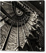 Old Lighthouse Stairway Acrylic Print