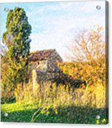 Old Little Stones House In Provence Acrylic Print