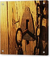 Old Lock And Key Acrylic Print