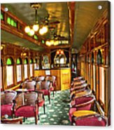 Old Lounge Car From Early Railroading Days Acrylic Print